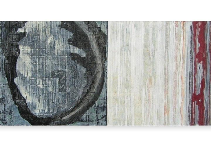 Being in mind 2 - acryl op paneel - 38x19 cm