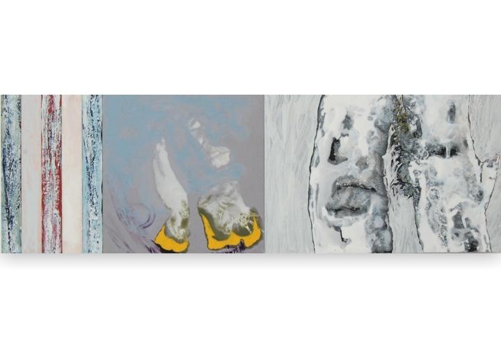 Toenadering no.2 - acryl op paneel - 90x30 cm