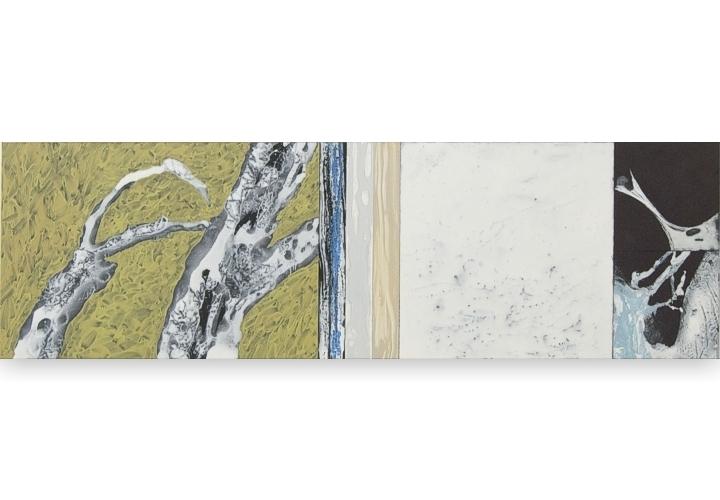 Toenadering no.3 - acryl op paneel S2 - 100x30 cm