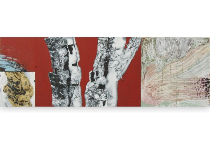 Toenadering no.7 - acryl op paneel - 90x30 cm