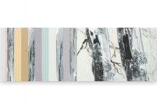 Toenadering no.1 - acryl op paneel - 88x30 cm