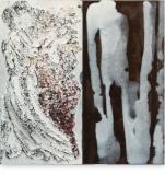 Verwezen - acryl op paneel - 30x30 cm