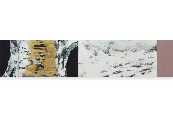 Berk met gouden hart 66x15 cm 2015