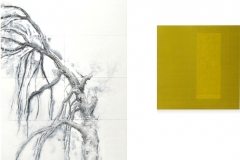 Tree; black and white with a yellow soul